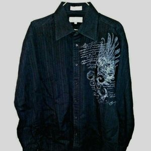 Eighty Eight Affliction shirt long sleeves striped